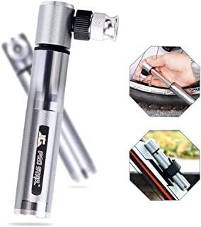 compatible con v/álvulas Presta y Schrader bomba de piso para bicicleta activada por el pie Speedrid Mini bomba para bicicleta bomba port/átil para bicicleta