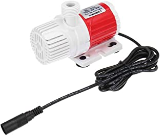 YakeHome Submersible Water Pump Dc12V 20W Portable 1100L-H Red- Red